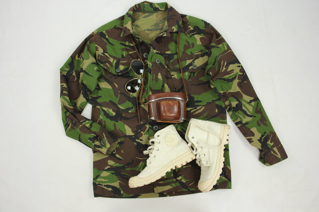 UK-Nato Camouflage Combat Military Jacket Shirt, Size S