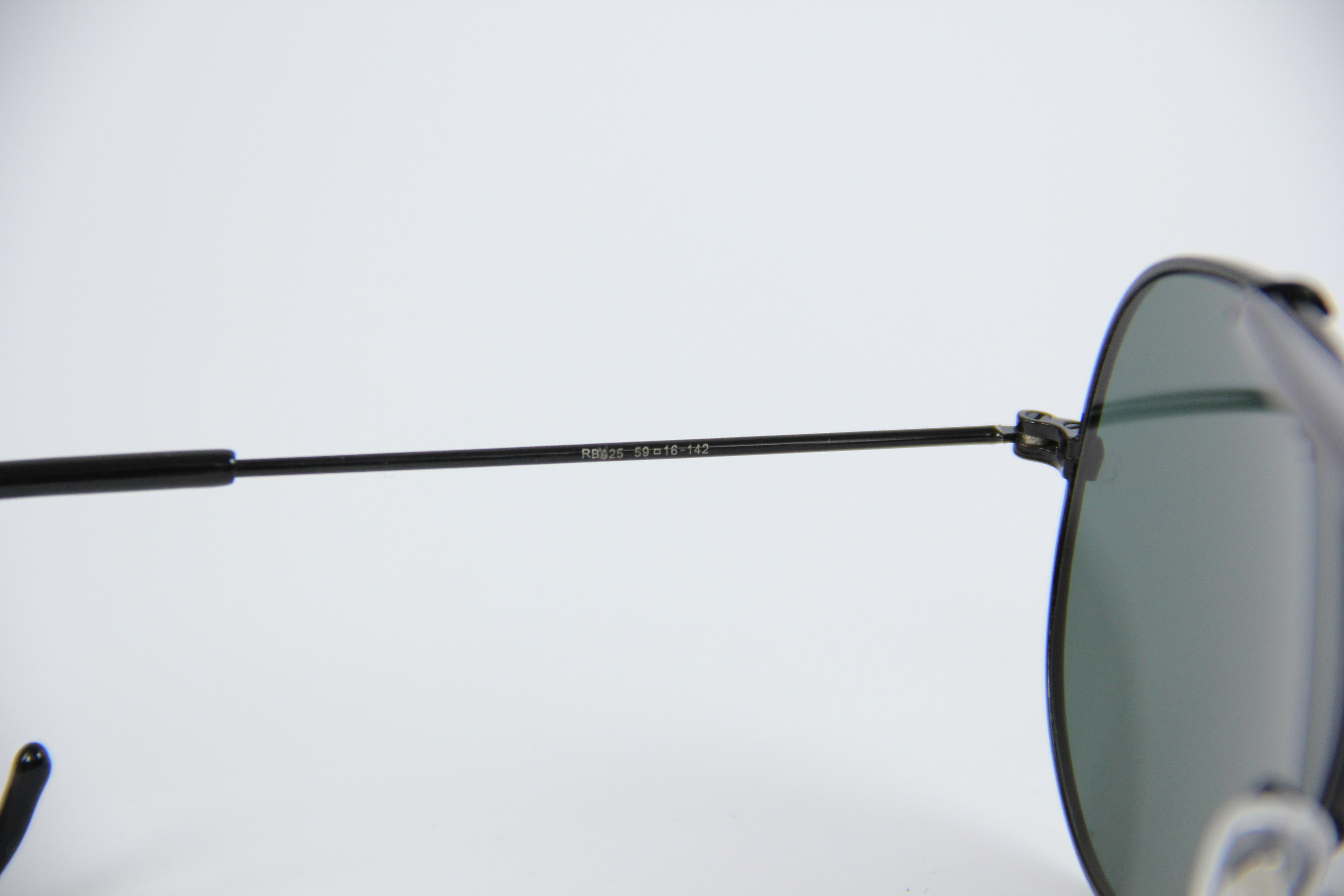 Vintage Ray-Ban Black Shooters Aviator Sunglasses 59-16-142