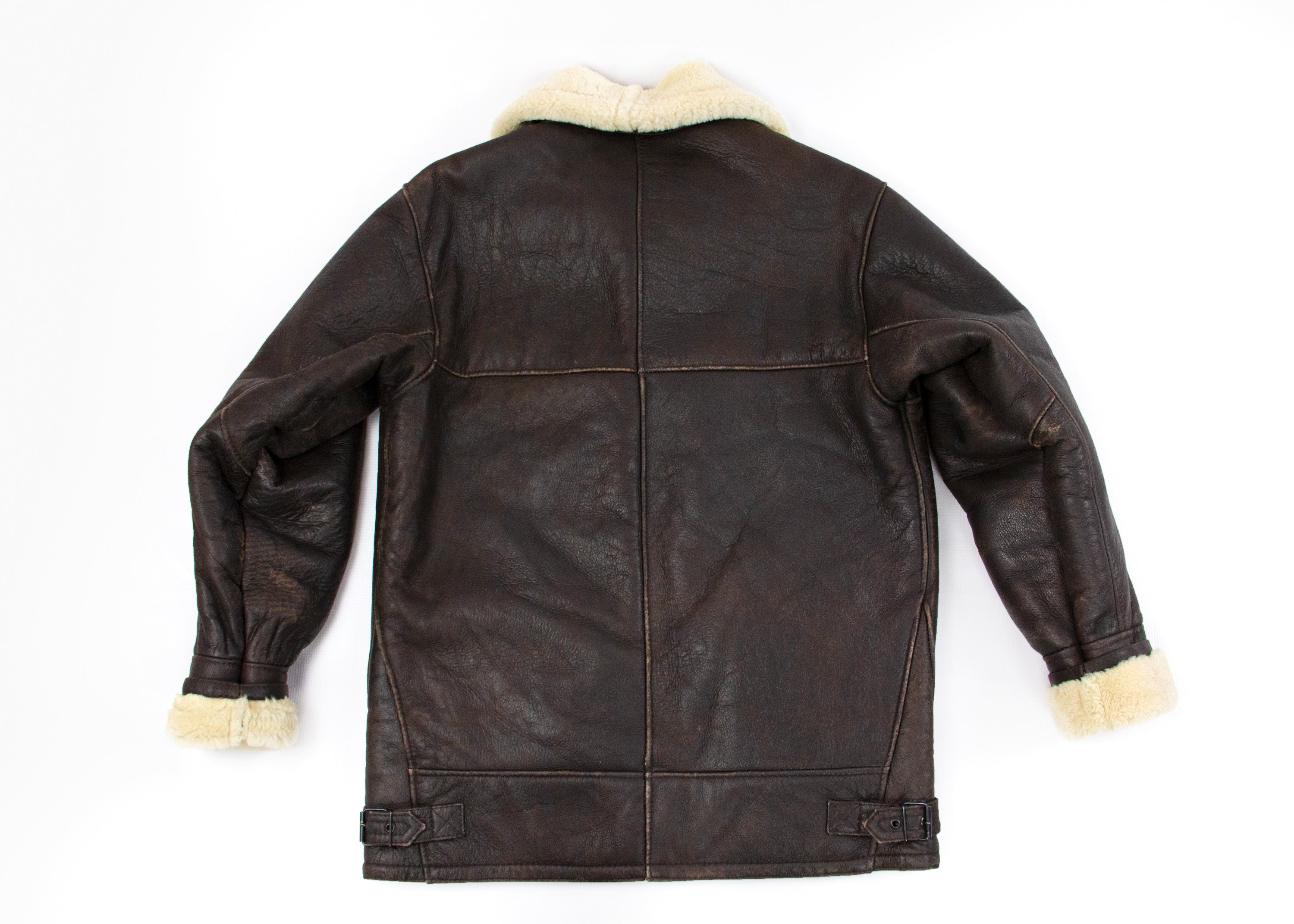 Airforce/Type-B/Aviator Style Bomber Shearling Jacket, L - US 40 - secondfirst