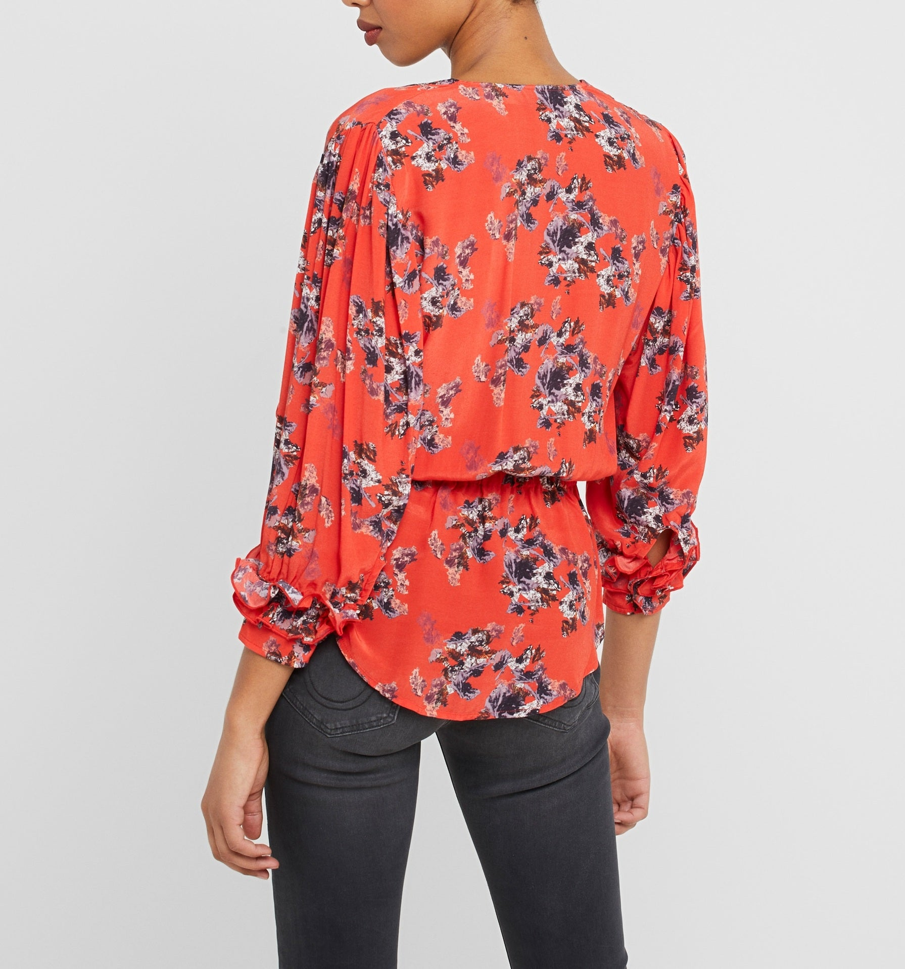 Iro Red Floral Posti Blouse, M