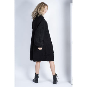 Valentino Oversized Chunky Wool Coat / Cardigan with Batwing Sleeves, XXL