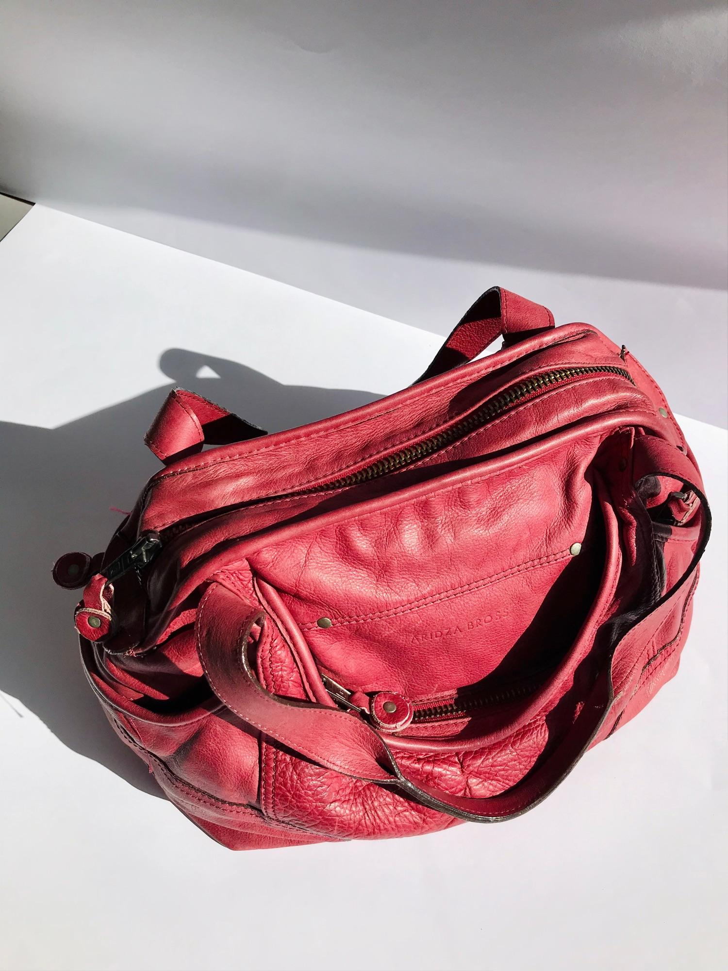 Aridza Bross Pink Opium Soft Leather Handbag