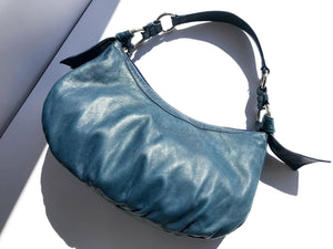 Tosca Blu Soft Italian Leather Baguette Shoulder Bag