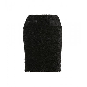 ACNE Cerise Fur Black Pencil Skirt, SIZE 36, USA 6 - secondfirst