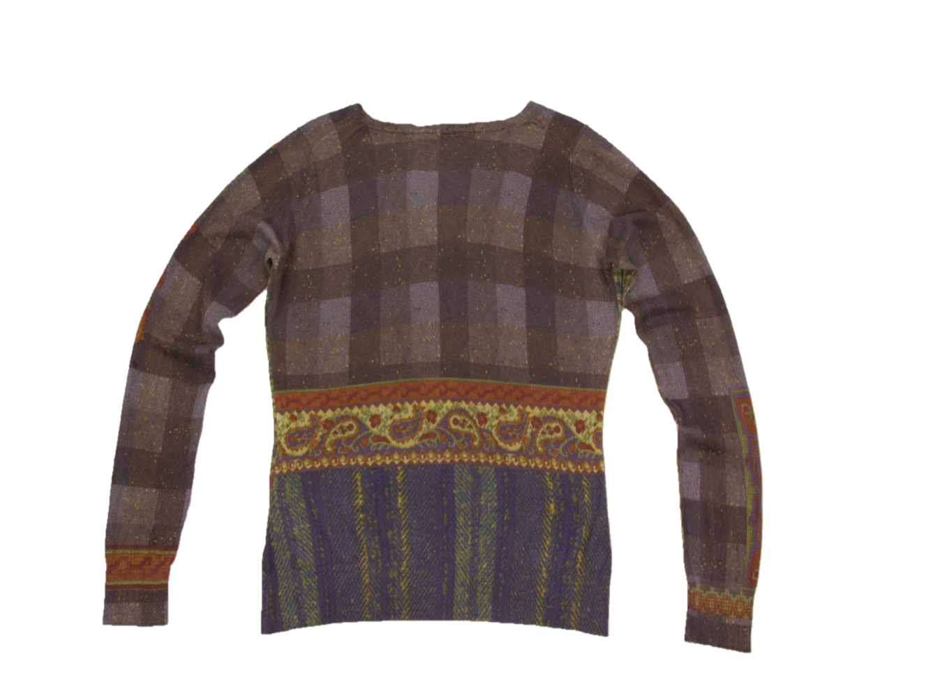 Etro Silk Cashmere V-neck Thin Jumper, M - secondfirst