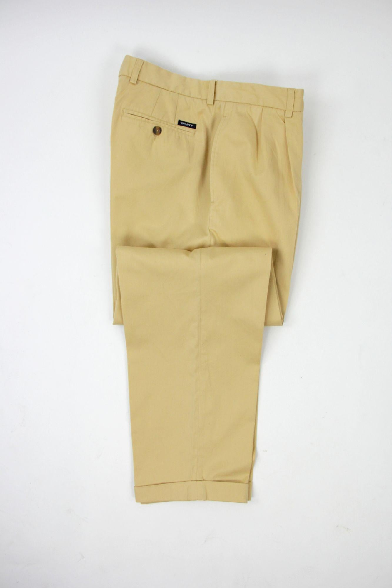 Gant Pleated Chino Wind Pant, SIZE EU 50, USA 32