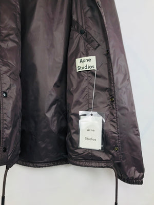 ACNE Studios Tony Nylon Coach Windbraker Jacket SIZE US 42, EU 52 - secondfirst