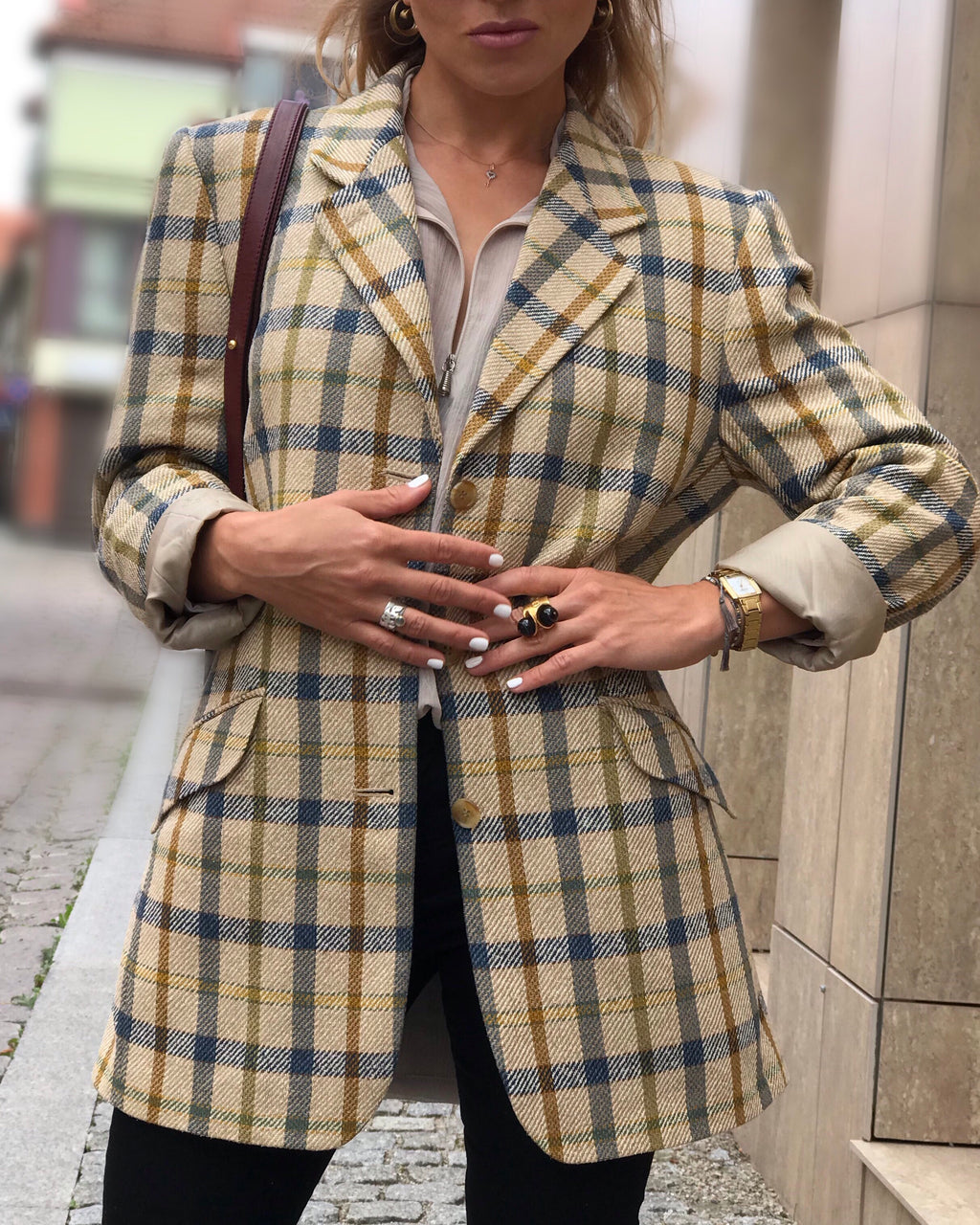 DAKS Silk Blazer jacket, EU38/ US10/GB12, M - secondfirst