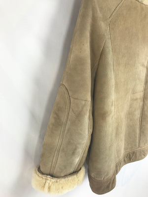 Short Supple & Soft Sheepskin Shearling Jacket SIZE XS - secondfirst
