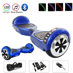 Blue Chrome 6.5 Inch Hoverboard With Bluetooth & Remote Control