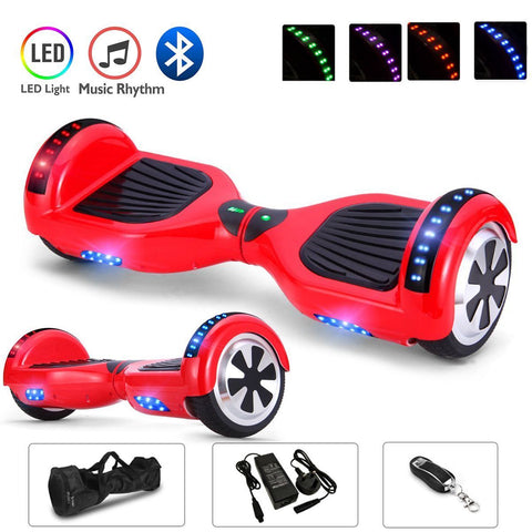 Red 6.5 Inch Hoverboard LED Lights Remote Control & Bluetooth Speaker