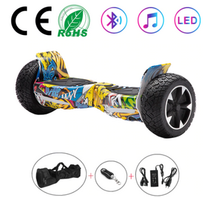 Graffiti All Terrain Hummer 8.5 Inch Hoverboard With Remote Control Bluetooth Speaker