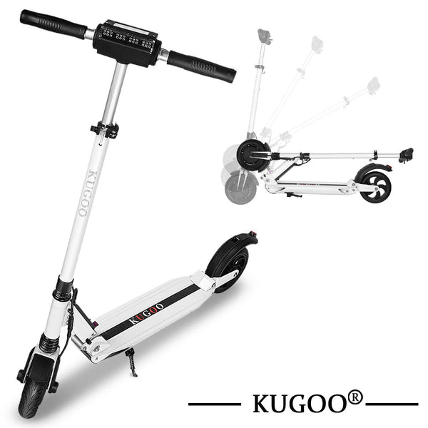 Kugoo S1 Folding Adjustable Height Electric Scooter – White (350W)