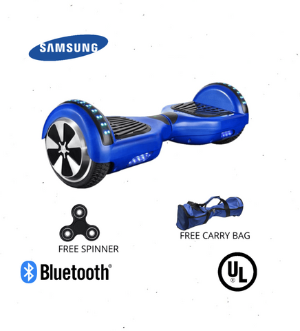 Blue 6.5 Inch Hoverboard LED Lights Remote Control & Bluetooth Speaker - Hoverboard Ireland For Sale