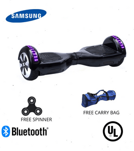 Black 6.5 Inch Hoverboard LED Lights Remote Control & Bluetooth Speaker - Hoverboard Ireland For Sale
