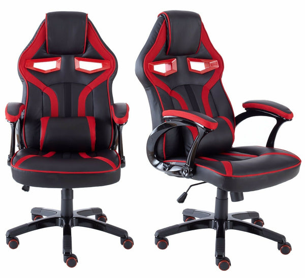 Executive PU Leather Sports Racing Car Gaming Office Chair With Lumbar Support (Multiple Colours)