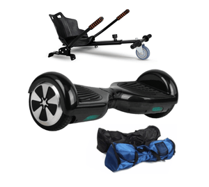 Black 6.5 Inch Classic Hoverboard and Hoverkart Bundle