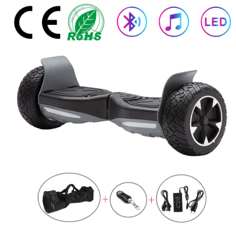 Black All Terrain Hummer 8.5 Inch Hoverboard With Remote Control Bluetooth Speaker