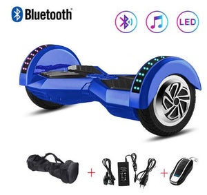 Blue 8 Inch Hoverboard With Bluetooth Remote Control & Bag