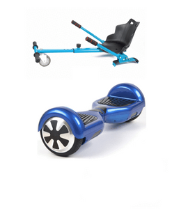 Blue 6.5 Inch Classic Hoverboard and Hoverkart Bundle