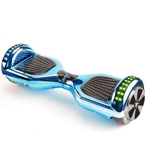 Blue Chrome 6.5 Inch Hoverboard LED Lights Remote Control & Bluetooth Speaker - Hoverboard Ireland For Sale