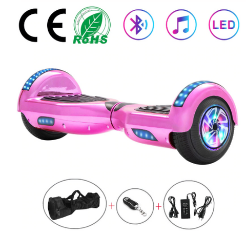 Disco Pink 6.5 Inch Hoverboard With Bluetooth & Remote Control
