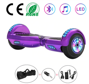Disco Purple 6.5 Inch Hoverboard With Bluetooth & Remote Control