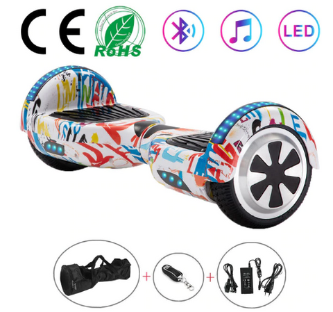 Graffiti 6.5 Inch Hoverboard With Bluetooth & Remote Control