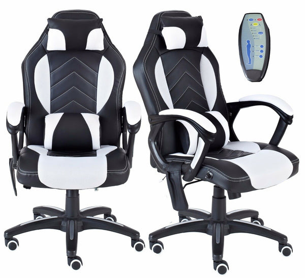 Executive Massage PU Leather Gaming Chair With Lumbar Support