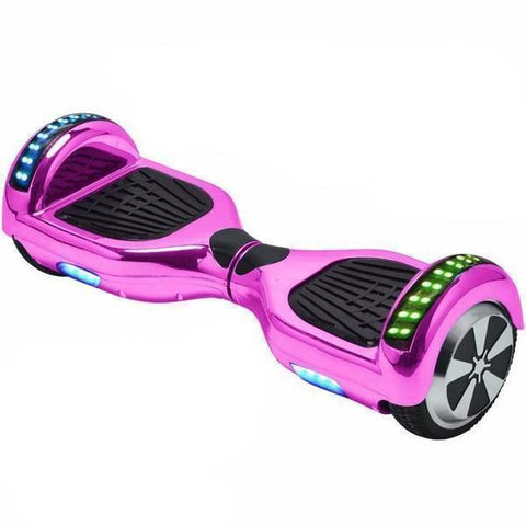 Pink Chrome 6.5 Inch Hoverboard App Enabled, LED Lights Remote Control & Bluetooth Speaker