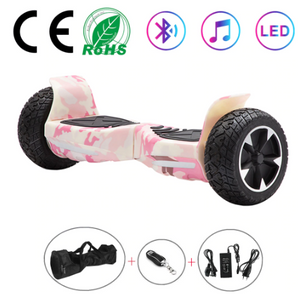 Pink Camo All Terrain Hummer 8.5 Inch Hoverboard With Remote Control, Bag and Bluetooth Speaker