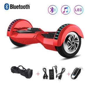 Red 8 Inch Hoverboard With Bluetooth Remote Control & Bag