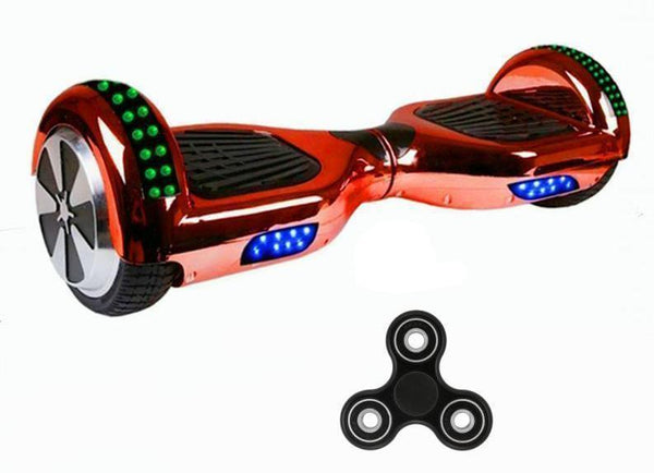 Rose Gold Chrome 6.5 Inch Hoverboard LED Lights Remote Control & Bluetooth Speaker - Hoverboard Ireland For Sale