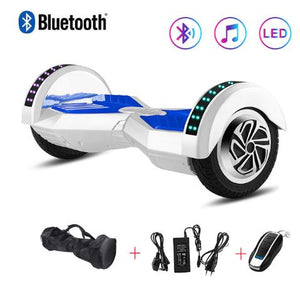 White 8 Inch Hoverboard With Bluetooth Remote Control & Bag