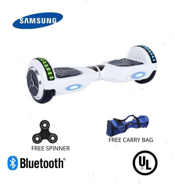White 6.5 Inch Hoverboard LED Lights Remote Control & Bluetooth Speaker - Hoverboard Ireland For Sale