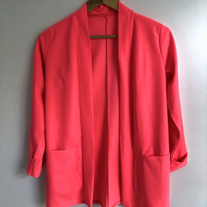 Blazer long rose fluo