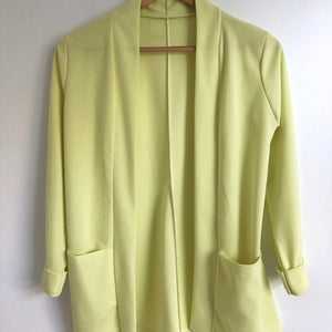 Blazer long jaune