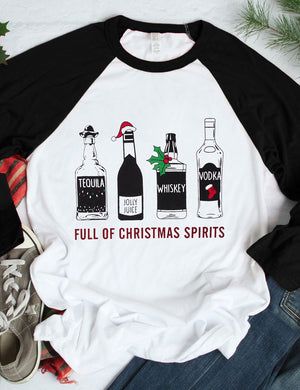 Full Of Christmas Spirits Tee