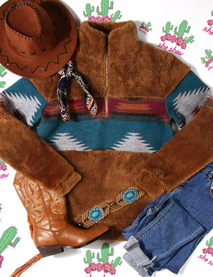 Aztec Fuzzy Sweater