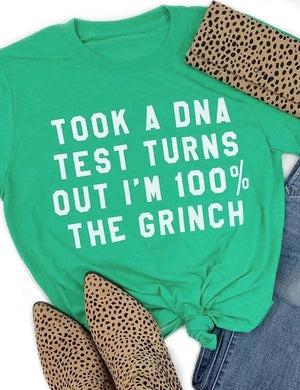 Took A DNA Test Turns Out I'm 100% The Grinch Tee