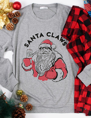 Santa Claws Holiday Long Sleeve Tee