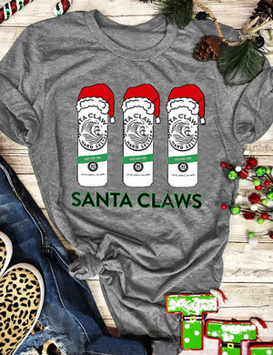 Santa Claws Christmas Tee