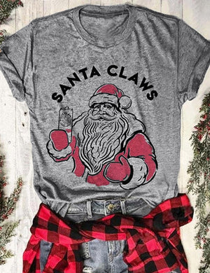 Santa Claws Holiday Tee