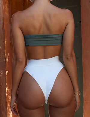 Knot Front High Waist Bikini Set