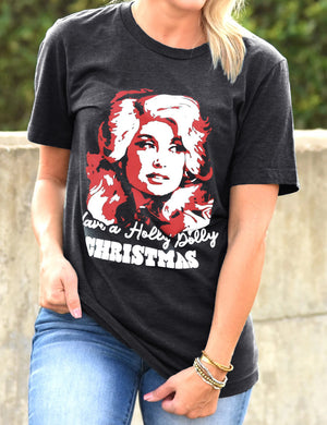 Have A Holly Dolly Christmas Tee