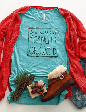 In A World Full Of Grinches Be A Griswold Tee In Blue