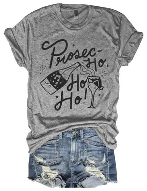 Prosec-Ho Ho Ho Tee In Gray