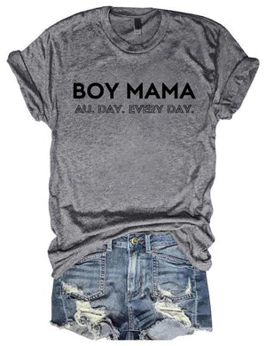 Boy Mama All Day Every Day Tee