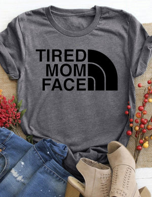 Tired Mom Face Tee