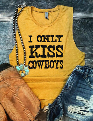 I Only Kiss Cowboys Tank Top